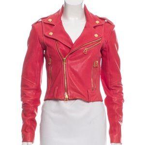 Balmain Moto Lambskin Leather Jacket